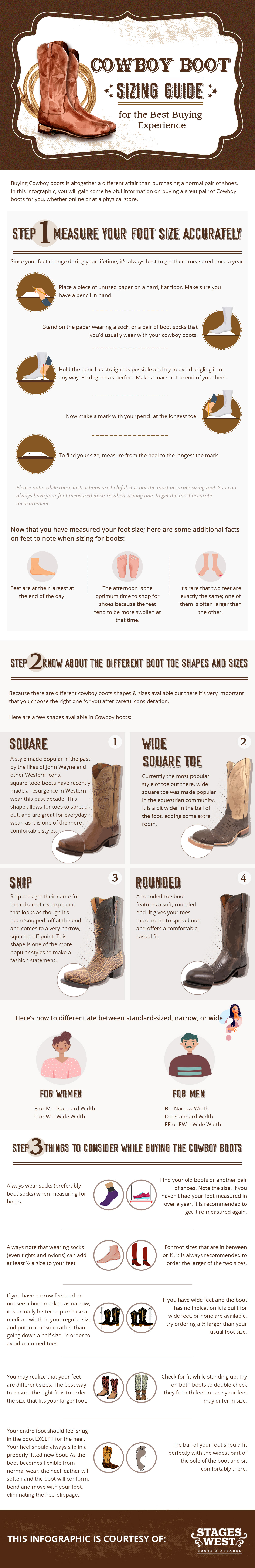 cowboy boot sizing guide